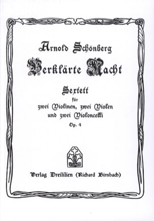 Verklärte Nacht op. 4 Sextett - Partitur SCHOENBERG laflutedepan