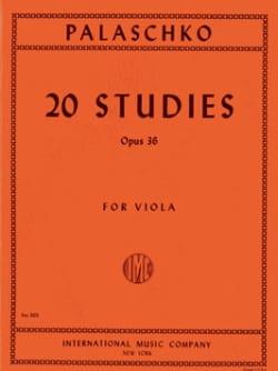 Johannes Palaschko - 20 Studies op. 36 - Sheet Music - di-arezzo.co.uk