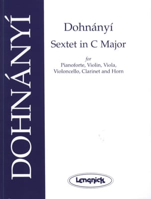 DOHNÁNYI - Sextet in C major op. 37 - Score parts - Sheet Music - di-arezzo.com