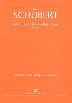 Franz Schubert - Hymnus an den Heiligen Geist D. 948 – Partitur - Partition - di-arezzo.fr