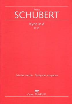 Kyrie d-moll D. 31 - Conducteur - SCHUBERT - laflutedepan.com