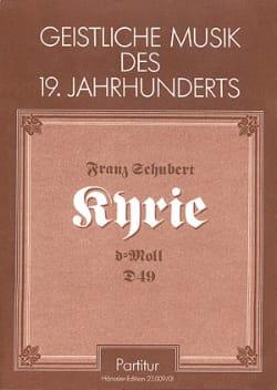 Kyrie in d-moll D. 49 - Partitur - Franz Schubert - laflutedepan.com