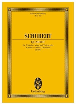 Franz Schubert - Quatuor en la Mineur Op. 29 D. 804 - Partition - di-arezzo.fr