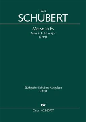 Messe in Es, D. 950 - Partitur - SCHUBERT - laflutedepan.com