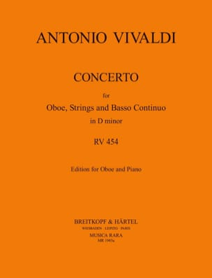 VIVALDI - Concerto In D Minor Rv 454 P. 259 - Partition - di-arezzo.fr