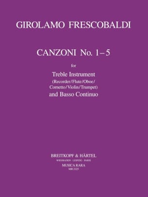 Girolamo Frescobaldi - Canzoni No. 1-5 - Treble instr. and Bc - Sheet Music - di-arezzo.com
