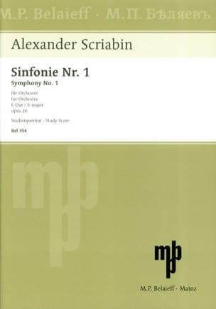 Alexandre Scriabine - Symphonie Nr. 1 E-Dur op. 26 - Partitur - Partition - di-arezzo.fr