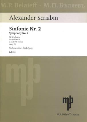 Alexandre Scriabine - Symphonie Nr. 2 c-moll op. 29 - Partitur - Partition - di-arezzo.fr