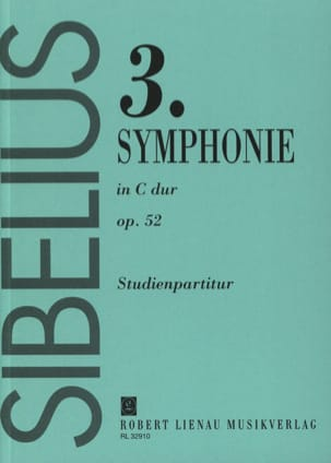 Jean Sibelius - Symphonie n° 3 do M. op. 52 - Conducteur - Partition - di-arezzo.fr