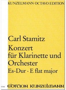 Konzert für Klarinette Es-Dur - Partitur - STAMITZ - laflutedepan.com