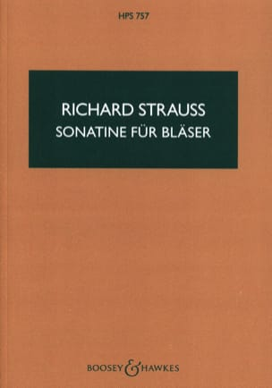 Sonatine für Bläser – Partitur - Richard Strauss - laflutedepan.com