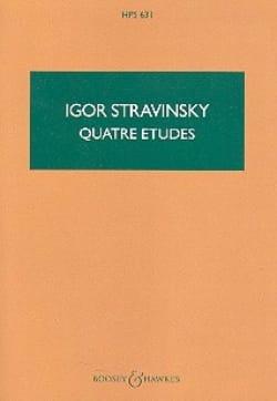 Quatre études - Score - STRAVINSKY - Partition - laflutedepan.com