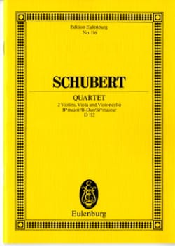 SCHUBERT - Bb String Quartet M., Op. 168 D 112 - Sheet Music - di-arezzo.co.uk