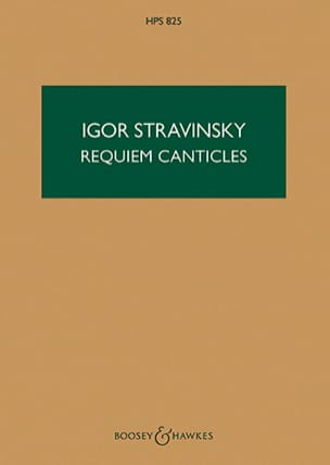 Igor Stravinsky - Requiem Canticles - Score - Sheet Music - di-arezzo.co.uk