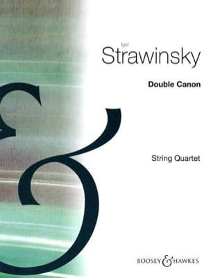 Igor Stravinsky - Double canon -String quartet - Partition - di-arezzo.fr