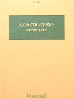 Igor Stravinsky - Oedipus Rex - Conducteur - Partition - di-arezzo.fr
