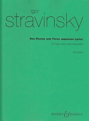Igor Stravinsky - 2 poemas y 3 letras japonesas - Partitura - Partitura - di-arezzo.es