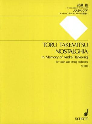 Nostalghia - Partitur TAKEMITSU Partition Grand format - laflutedepan