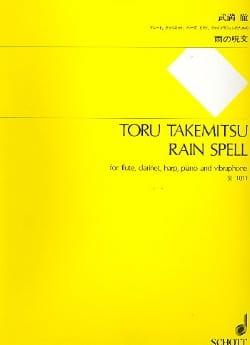 Rain spell - Partitur TAKEMITSU Partition Grand format - laflutedepan