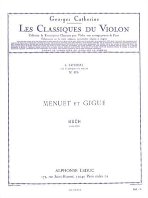 Menuet et Gigue BACH Partition Violon - laflutedepan