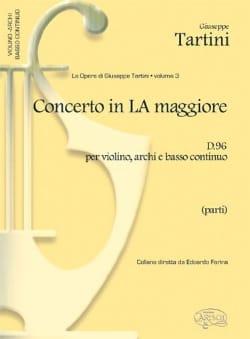 Giuseppe Tartini - Concerto in la maggiore per violino D. 96 - Partitura - Partition - di-arezzo.fr