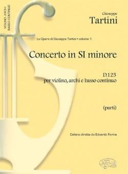 Giuseppe Tartini - Concerto in si minore per violino D. 125 - Partitura - Partition - di-arezzo.fr
