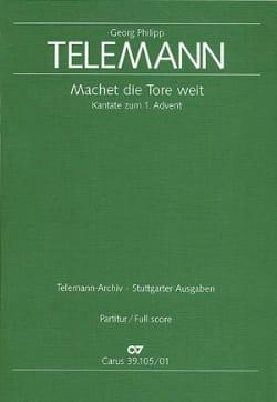 TELEMANN - Machet die Tore weit - Kantate - Partitur - Sheet Music - di-arezzo.co.uk