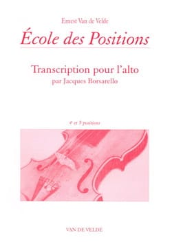 VAN DE VELDE - School of Positions - 4th and 5th positions - Alto - Sheet Music - di-arezzo.com
