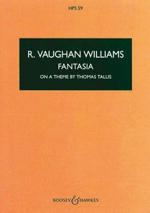 Williams Ralph Vaughan - Fantasia on a theme by Thomas Tallis – Score - Partition - di-arezzo.fr