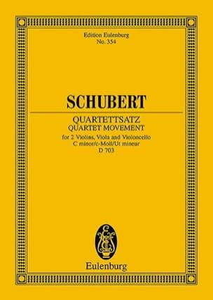 Franz Schubert - Streich-Quartett C-Moll, Op. Posth. (D 703) - Partition - di-arezzo.fr