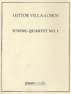 Quatuor à cordes n° 1 - Conducteur VILLA-LOBOS Partition laflutedepan