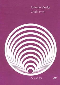 Credo Rv 591 - Conducteur - VIVALDI - Partition - laflutedepan.com