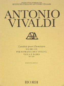 VIVALDI - Laudate pueri Dominum RV 600 - Partitura - Sheet Music - di-arezzo.co.uk