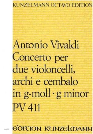 VIVALDI - Concerto per 2 violoncelli PV. 411 g-moll - Partitur - Partition - di-arezzo.fr
