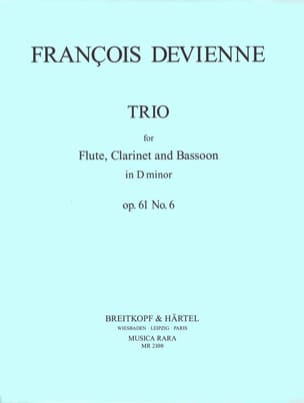 François Devienne - Trio in D minor, op. 61 n ° 6 - Parts - Sheet Music - di-arezzo.co.uk
