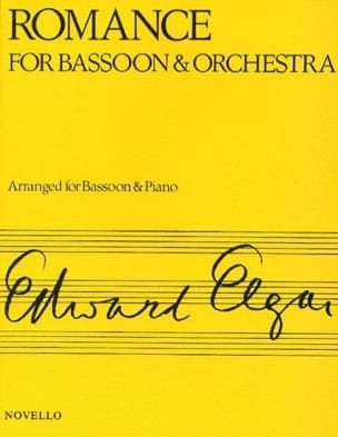 Edward Elgar - Romance op. 62 – Bassoon piano - Partition - di-arezzo.fr