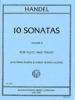 HAENDEL - 10 Sonatas - Volume 2 - Piano flute - Sheet Music - di-arezzo.co.uk