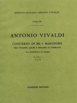 Antonio Vivaldi - Concerto en Mib Maj. - F. 1 n° 26 –Conducteur - Partition - di-arezzo.fr