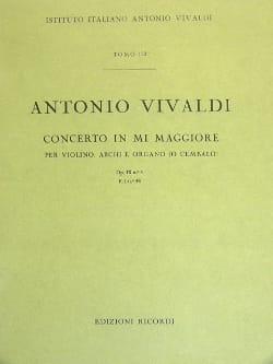 Antonio Vivaldi - Concerto en Mi Maj. - F. 1 n° 48 – Partitura - Partition - di-arezzo.fr