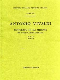Antonio Vivaldi - Concerto en mi min. - F. 1 n° 174 – Partitura - Partition - di-arezzo.fr