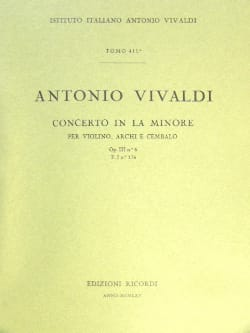VIVALDI - Concerto in the min. - F. 1 No. 176 - Partitura - Sheet Music - di-arezzo.co.uk