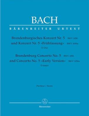 Concerto Brandebourgeois N° 5 - Conducteur BACH Partition laflutedepan