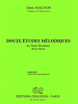 Denis Magnon - 12 Melodic studies - Middle - Student - Sheet Music - di-arezzo.co.uk