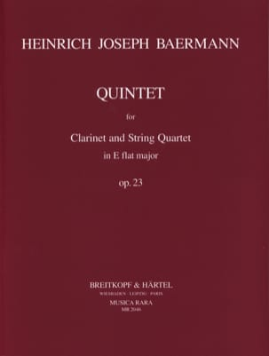 Quintet E flat major op. 23 – Clarinet String quartet - Parts - laflutedepan.com