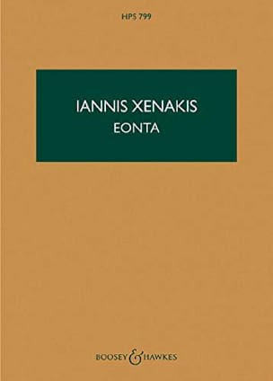 Iannis Xenakis - Eonta - Score - Partition - di-arezzo.fr