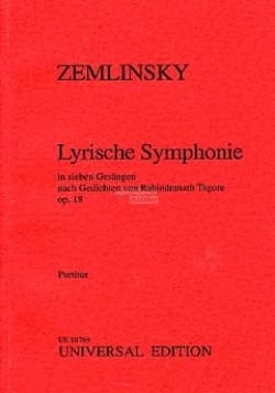 Alexander Zemlinsky - Lyrische Symphonie, op. 18 - Partitur - Partition - di-arezzo.fr