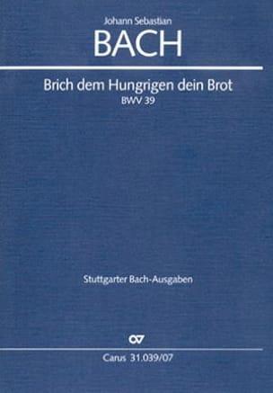 Cantate Brich Dem Hungrigen Dein Brot BWV 39 - laflutedepan.com