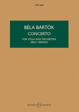 Béla Bartok - Viola Concerto op. posth (vers. Serly) – Score - Partition - di-arezzo.fr