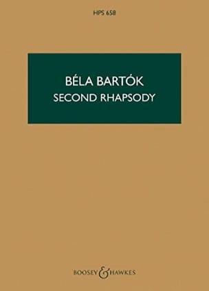 Béla Bartok - Rhapsody n° 2 for violin - Score - Partition - di-arezzo.fr
