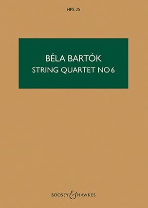 Béla Bartok - Quatuor à cordes n° 6 – Score - Partition - di-arezzo.fr